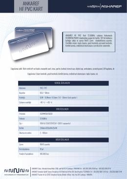Ankaref HF PVC Kart (TR)