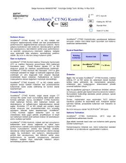 AcroMetrix CT/NG Kontrolü