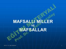 Sunu 7- Mafsallý Miller