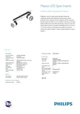 Maxos LED spot yuvaları 4MX960 kanal sistemi ile StyliD