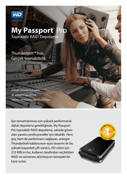 My Passport® Pro Premium RAID Storage