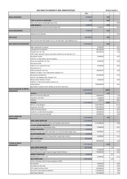 2015 mali yılı burdur il özel idaresi bütçesi