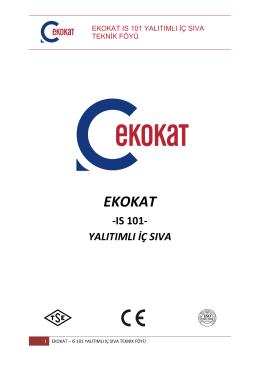 teknık foy - ekokat - ıs 101 yalıtımlı ıc sıva