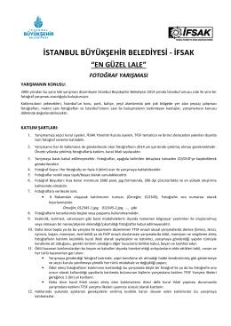 Katılım Formu - İstanbul Büyükşehir Belediyesi