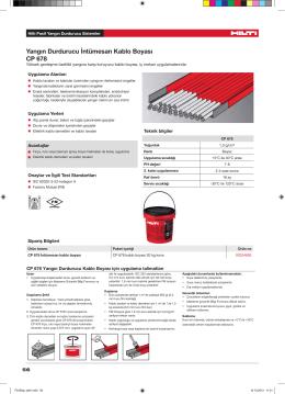 Yangın Durdurucu İntümesan Kablo Boyası CP 678