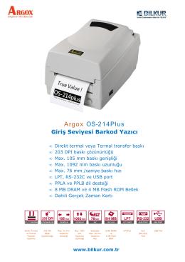 Argox OS-214Plus Teknik Özellikler