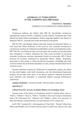 azerbaycan türklerinin etnik tarihine kısa bir bakış