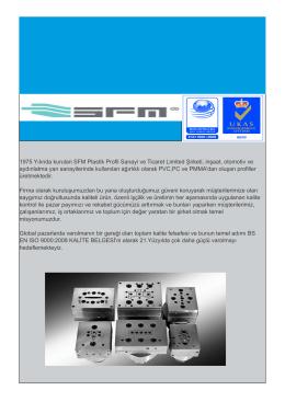 ürün kataloğu - Pvc ısı yalıtım fitilleri ,pmma(akrilik),pc (polikarbonat