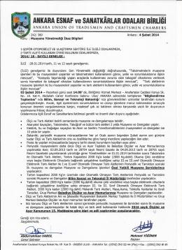 Qp ..- - Ankara Ve Esnaf Sanatkarları Odaları Birliği