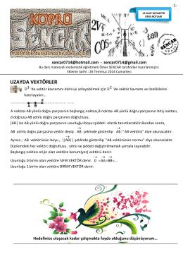 UZAYDA VEKTÖRLER - www.omersencar.com