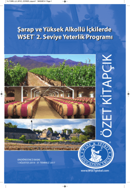 Turkish Level 2 Award in Wines and Spirits Specification