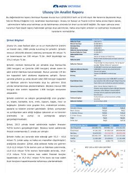 UlusoyUn - Asya Yatırım