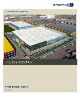Ulusoy Elektrik Fiyat Tespit Raporu