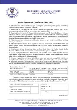 Borç Geri Ödemelerinde Taksit Öteleme (Mola) Talebi 1
