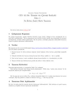 CEV 451 Su Tem İnİ ve Çevre Sağlİğİ Ödev 1