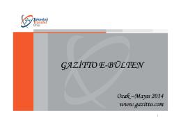 E-BÜLTEN OCAK - MAYIS 2014_efe4bc98 [Uyumluluk Modu]