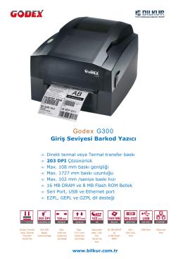 Godex G300 Teknik Özellikler