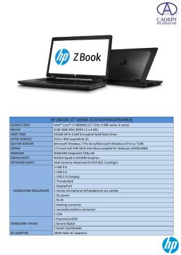 """HP ZBOOK 17"""" MOBİL İŞ İSTASYONU(F0V49EA)"""