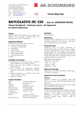 BAYCOLASTIC-RC 550 (Eski adı: ASOLASTIC - ab