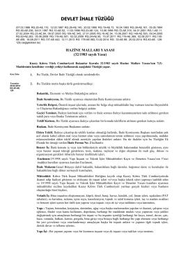 Kamu Alımları - KKTC Maliye Bakanlığı