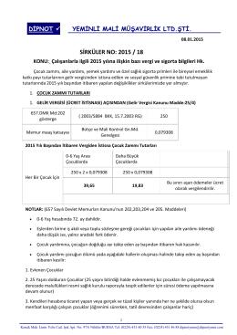 sırk 2015-18 2015 yılında ücretli çalışanlara ilişkin