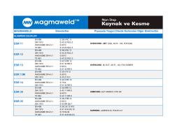 MAGMAWELD Piyasada Yaygın Olarak Kullanılan Diğer Elektrodlar