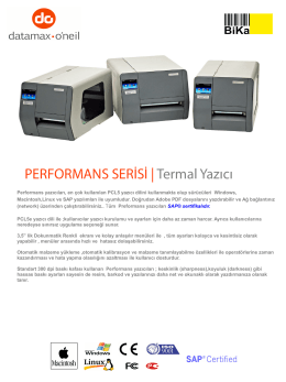 PERFORMANS SERİSİ |Termal Yazıcı