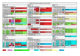 VMTD 2015 turnuva takvimi (12.01.2015) Ocak Mayıs