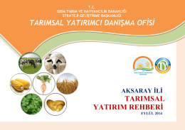 aksaray - TC Gıda Tarım ve Hayvancılık Bakanlığı