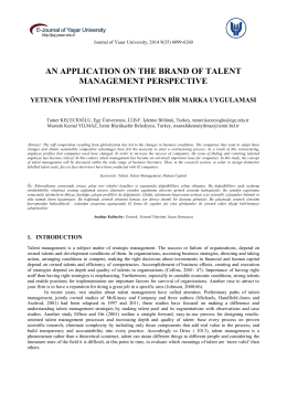 an application on the brand of talent management