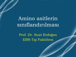 Amino asitlerin sınıflandırılması