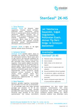 StenSeal® 2K-NS - stenkim.com.tr