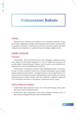Trakeostomi Bakımı - İzmir Güney Kamu Hastaneleri Birliği Genel