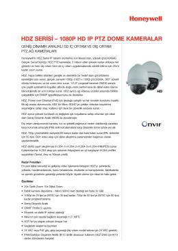 hdz serisi – 1080p hd ıp ptz dome kameralar