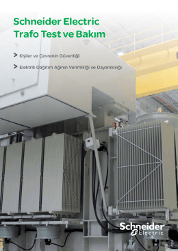 Schneider Electric Trafo Test ve Bakım