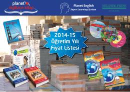 2014-15 Öğretim Yılı Fiyat Listesi