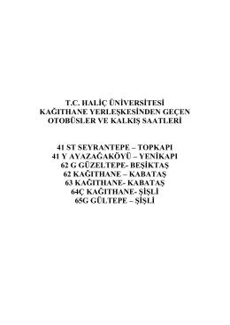 kağıthane - Haliç Üniversitesi