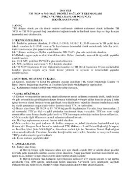 2014 YILI TH 70/29 ve 70/34 BAĞ PROFİLİ BAĞLANTI ELEMANLARI
