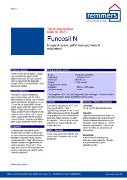 Funcosil N teknik bilgi