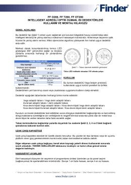 ff o200, ff t200, ff ot200 ıntellıgent adresli optik duman, ısı