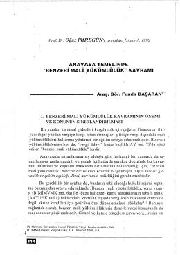 """anayasa temelinde """"benzeri mali yükümlülük"""""""