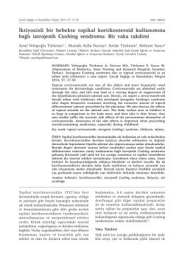 İktiyozisli bir bebekte topikal kortikosteroid kullanımına bağlı