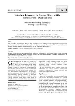 Olgu Sunumu - Tıp Araştırmaları Dergisi