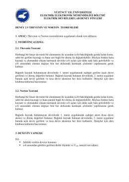 Elektrik Devreleri Lab I - Deney2 Föyü