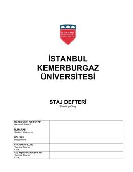 BOĞAZİÇİ ÜNİVERSİTESİ - İstanbul Kemerburgaz Üniversitesi