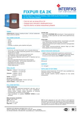FIXPUR EA 2K - İnterfiks Yapı Kimyasalları