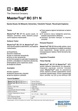 MasterTop® BC 371 N
