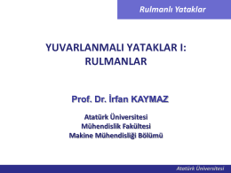 Rulmanlı Yataklar I - Mehmet Adem Yıldız