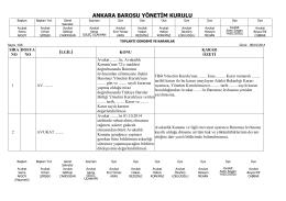 8 ekim 2014 tarihinde yapılan yönetim kurulu kararları