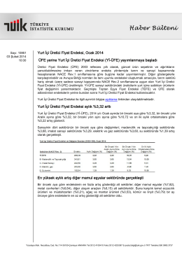 Yurt İçi Üretici Fiyat Endeksi-(Ocak 2014